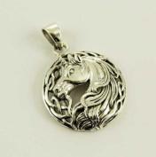 Pendant Silver Unicorn Celtic Style 3.5cm Design By Lisa Parker