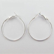 10pcs Silver Plated Jewellery Lot Circle Hoops Earrings Findings 30mm.
