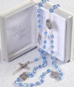 Vatican Rosary Beads in Prayer Book case