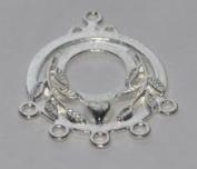 Markylis - 10 Silver Plated Dangle Earring Chandelier Findings Jewellery Craft