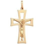 9ct yellow gold crucifix pendant