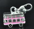 Believe Beads © 1 x Pink London Bus 2012 Clip on Charm Bead will fit thomas Sabo Style Charm Bracelet