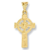 9ct Yellow Gold Celtic Cross - Medium