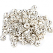 100 X Findings Silver Tone Metal Spacers Caps Beads 6mm HOT
