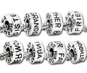 Charming Bead Store Wholesale Cute Mixed Silver-Tone Family Charm Beads For Charm Bracelets