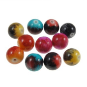 Charming Bead Store 50 Stunning Resin-Acrylic Beads For Jewellery Work In Richest Colours #989