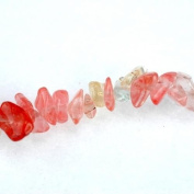 Watermelon Red Glass Crystal Chips Beads 5-10mm / 33 In. Strand