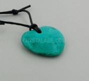 Gemini Birthstone Necklace - Chrysocolla Howlite Heart