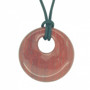 Lucky Libra Birthstone Agogo Pendant Zodiac Astrology Gemstone Red Jasper