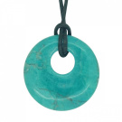 Lucky Gemini Birthstone Agogo Pendant Zodiac Astrology Gemstone Chrysocolla Howlite