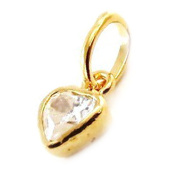 "Pendant plated gold ""Coeur Pur"" white."