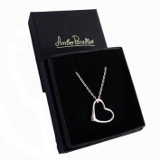 SILVER FLOATING HEART PENDANT + Silver Chain + gorgeous gift box. Perfect Christmas Gift!