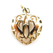 Pendant gold plated celtic heart.