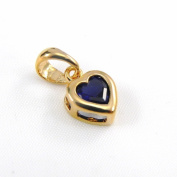 "Pendant plated gold ""Love"" sapphire."