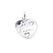 "Pendant silver ""Je T'aime""."
