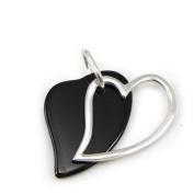 """Pendant silver """"Obao Love"""" black."""