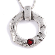 Love Circle pendant on snake chain St. Justin, Cornwall PN646