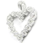 """Pendant silver """"Love Divine"""" white."""
