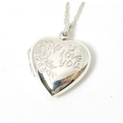 The Olivia Collection Sterling Silver 'I Love You' Heart Locket on 46cm Chain