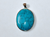 Genuine Gemstone Pendant 52x32mm - Turquoise