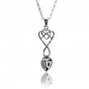 Silver Plated Celtic Welsh Love Spoon with a Heart Pendant