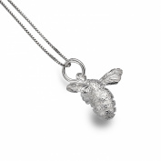 Sterling Silver Bee Textured Pendant