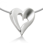Miore Sterling Silver Ladies open Heart Pendant on 46cm Snake Chain MSM073P