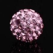 DUMAN 20pcs 10mm Disco Ball Rhinestone CZ Crystal Amethyst Charms Shamballa Inspired Loose Beads
