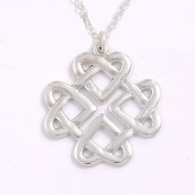 Celtic Silver Heart Love Knot Pendant by St Justin,Cornwall JSP29