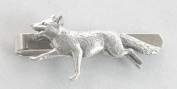 Running Fox Tie Clip (slide) in Fine English Pewter, Gift Boxed