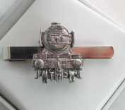 Flying Scotsman Steam Train Tie Clip (slide) in Fine English Pewter