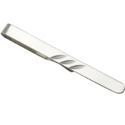 Sayers London Sterling Silver Diamond Cut Tie Slide