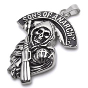 K Mega Jewellery Stainless Steel Sons of Mens Pendant Necklace P691