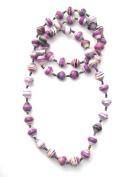 Katangi Handcrafts Recycled Paper Beads - Heather and White