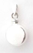 Stonesandsilver, Small (14mm diameter), Round, Flat Sided, Screw Top Locket, for ashes, hair, perfume etc
