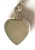 StonesandSilver, Heart Shape, Flat sided, Screw Top, Ashes/Keepsake Locket