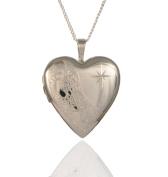 Sterling Silver Footprints Heart Locket & Chain.