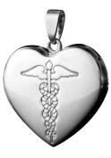 Infomedic Stainless Steel Pendant - Heart Shape