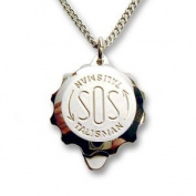 Polished Stainless Steel SOS Talisman Pendant