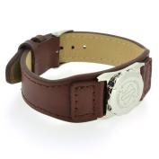 Talisman Brown Leather Strap (No Skin Contact)-13cm-18cm-Brown