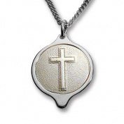 Stainless Steel SOS Talisman Cross Pendant