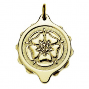 Talisman Gold Plated Sos Talisman Pendant - Tudor Rose-55cm-Gold