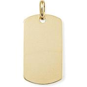 9ct Gold Dog Tag Pendant