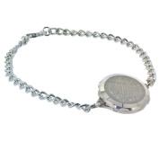 Talisman Sterling Silver Sos Talisman Bracelet - Ladies Plain-21cm-Silver
