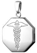 Infomedic 18ct White Gold Pendant -Octagon Shape
