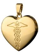Infomedic 18ct Yellow Gold Pendant - Heart Shape