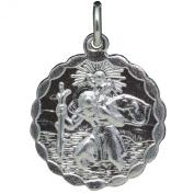 BJC® Sterling Silver ST Saint Christopher Pendant & 46cm Curb Chain