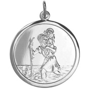 Silver 25mm round St Christopher