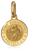 9ct Yellow Gold St Christopher Medal Pendant