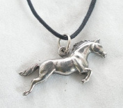 Horse Pendant in Fine English Pewter, Handmade